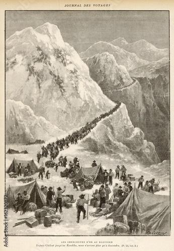 Obraz na plátně Klondike Gold Rush. Date: 1897