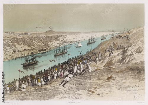 Valokuvatapetti Opening of the Suez Canal. Date: 17 November 1869