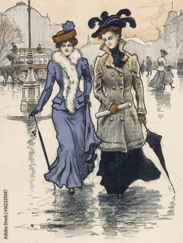 Poster  Costume - Women 1901. Date: 1901