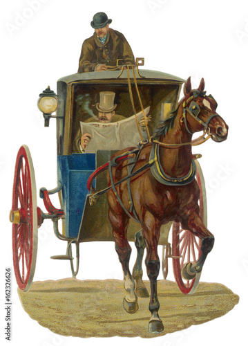 Cuadros en Lienzo Hansom Cab Scrap. Date: late 19th century