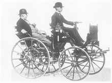 Daimler And Son. Date: 1886
