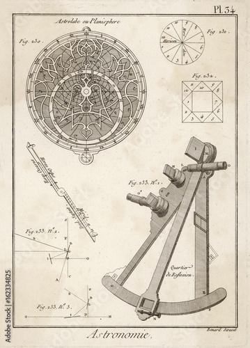 Photo Astrolabe - Quadrant. Date: 18th century