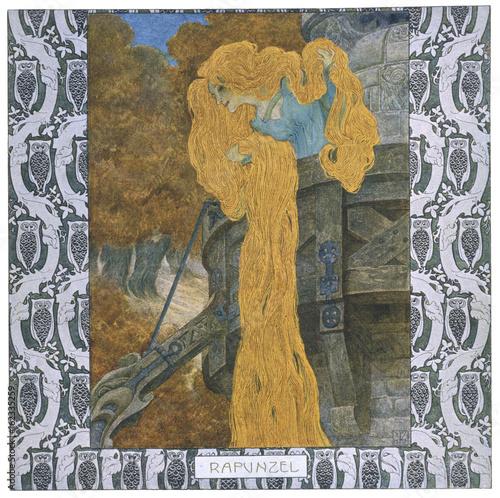 Rapunzel - Lefler - Urban Canvas Print