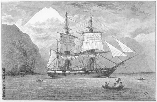 Fotografia Hms Beagle - Darwin's Ship. Date: 1832