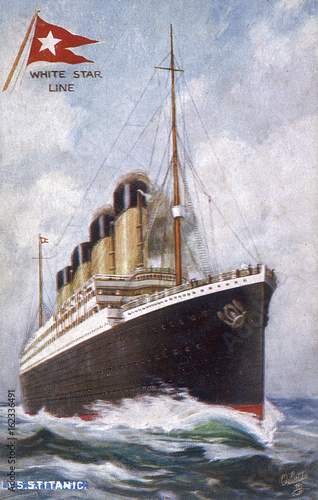 Photo  Titanic Postcard. Date: 1912