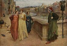Dante Alighieri  Italian Poet  Sees His Beloved Beatrice. Date: 1280s