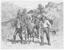 Gold Prospectors In California. Date: 1851