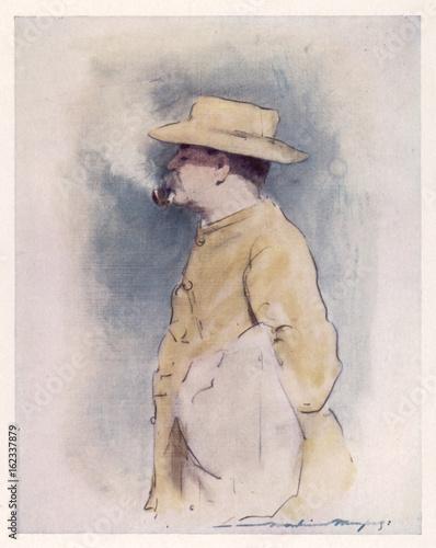Rudyard Kipling. Date: 1900 Canvas Print