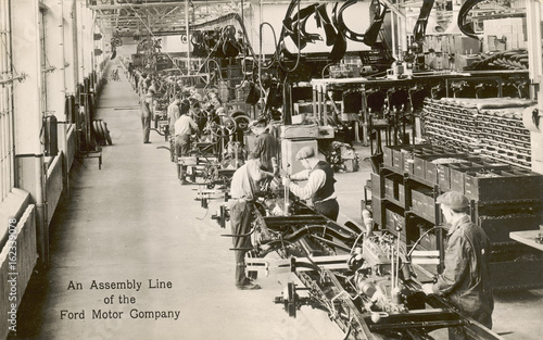 Assembly line for cars  Ford Motor Company  USA Tablou Canvas
