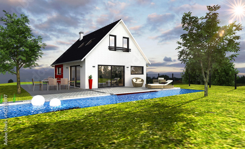 Belle Maison Moderne 3d Buy This Stock Illustration And Explore