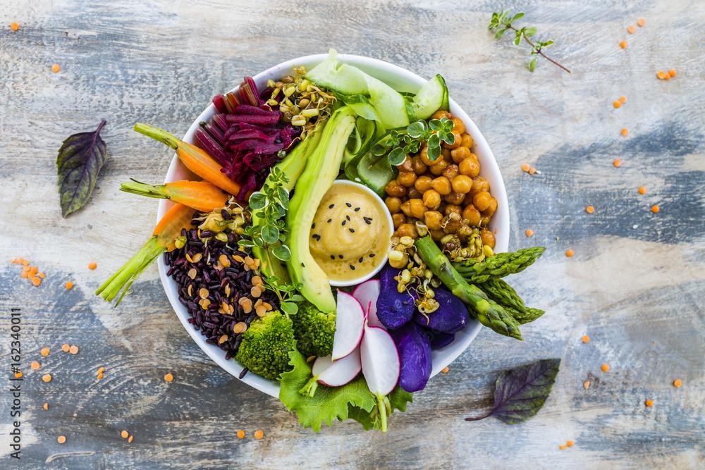 Fototapety, obrazy: Buddha bowl, healthy and balanced food.