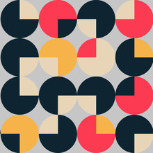 Vintage Geometric Pattern With Circles And Squares