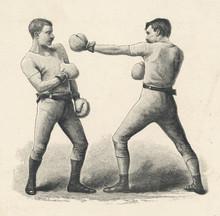 Boxing Retreat - Circa 1890. Date: Circa 1890