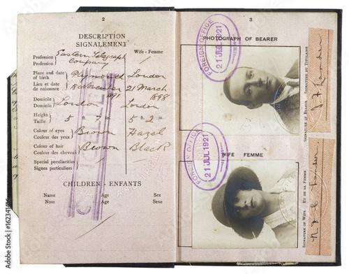 Passport 1921. Date: 1921 Canvas