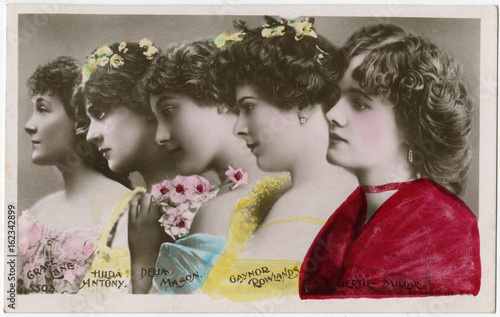 Gertie Millar and others . Date: 1906 Canvas Print