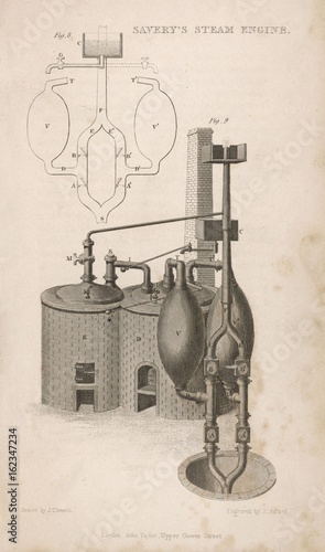 Fotografie, Obraz  Savery's Steam Engine. Date: 1698