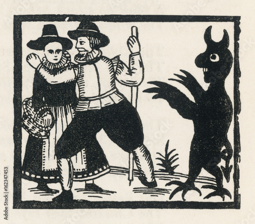 Photo  Demon and Couple. Date: circa 1600