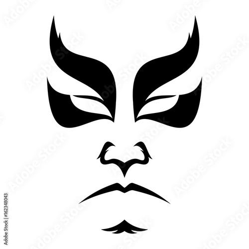 Obraz na płótnie Japanese drama Kabuki face