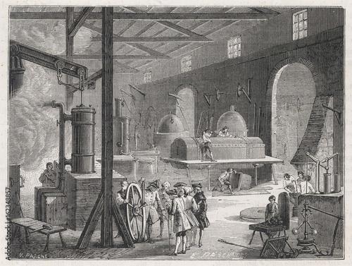 Valokuva Factory Interior. Date: 18th century