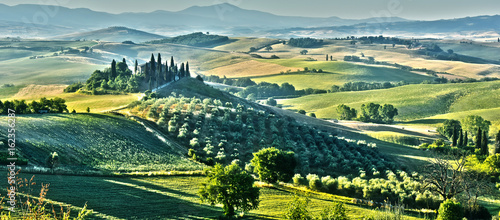 Foto op Plexiglas Toscane Landscape view of Val d'Orcia, Tuscany, Italy