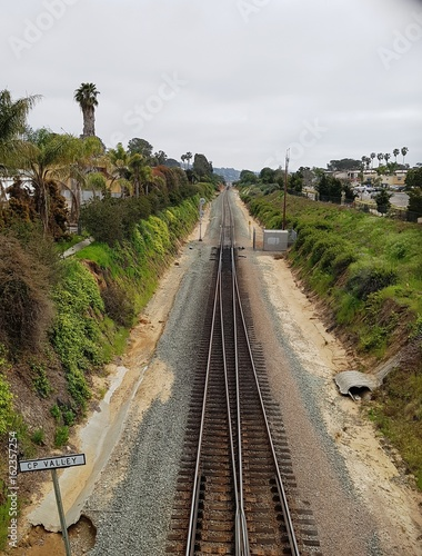 Fotografie, Obraz Raiway in California along Pacific Coast