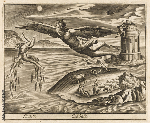 Icarus and Daedalus Fototapet