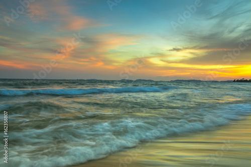 Door stickers Sunset beach with Twilight