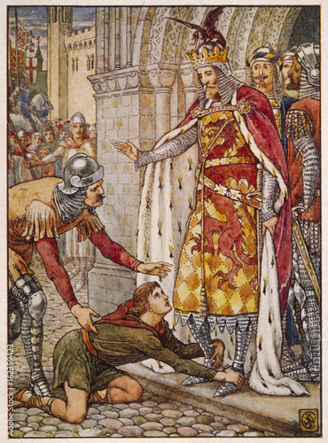 King Arthur with Owain Canvas Print