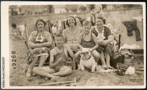 Photo On Margate Beach 1920s. Date: 1920s