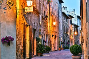 Fototapeta Architecture of historic center of Pienza in Tuscany, Italy.