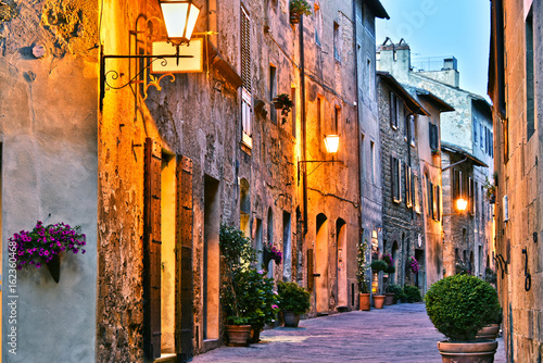 Architecture of historic center of Pienza in Tuscany, Italy. © monticellllo