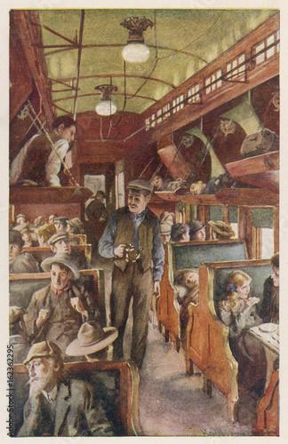 Fotografía  Settlers in Rail Coach. Date: 1915