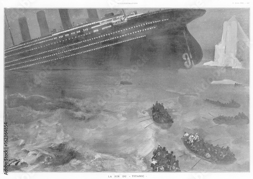Photo  Sinking of the Titanic. Date: 1912