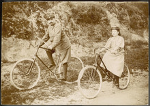 Two Cyclists (Photo). Date: Circa 1890