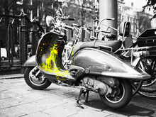 Moped In Paint . Paint Spots