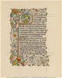 Leinwanddruck Bild - Page from a religious manuscript in Latin. Date: 15th century