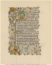 Page From A Religious Manuscript In Latin. Date: 15th Century