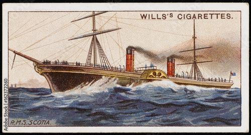 Photo  Scotia' Cunarder. Date: 1862