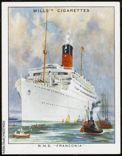 Photo  Franconia' Steamship. Date: circa 1930