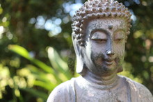 Buddah Shows Peaceful Smile In...