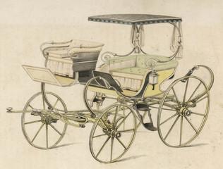 Fototapeta na wymiar Light Phaeton - 1819. Date: 1819