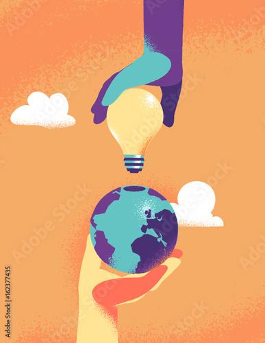 Idee per il futuro della Terra Canvas Print