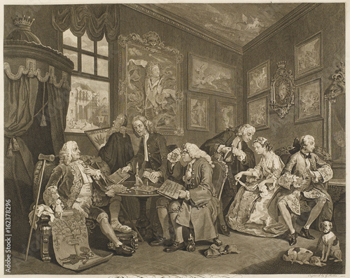 Contract I Hogarth 1745. Date: 1745 Canvas Print