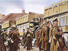 British In Buses. Date: 1914