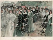 Vanity Fair Cycle Scene. Date: 1896