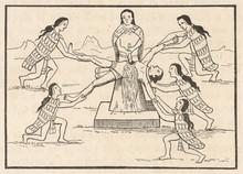 Human Sacrifice  Peru. Date: Pre-conquest