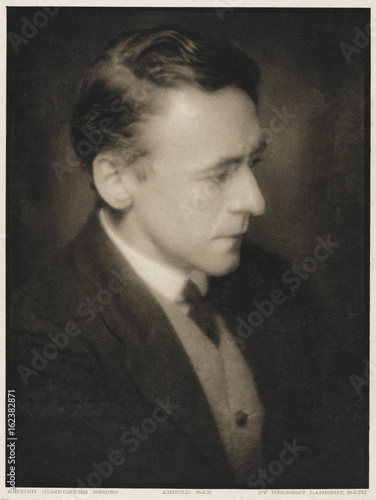 Photo Arnold Bax. Date: 1883 - 1953