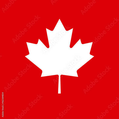 Happy Canada Day Poster With Canadian Flag Symbol Maple