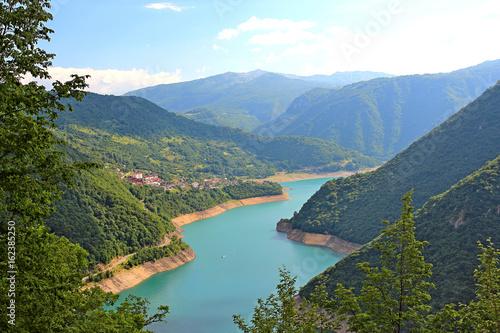 Beautiful lake in the mountains of Montenegro - 162385250