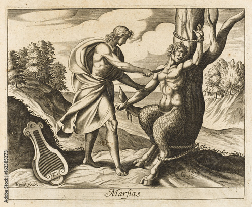 Marsyas and Apollo Canvas Print